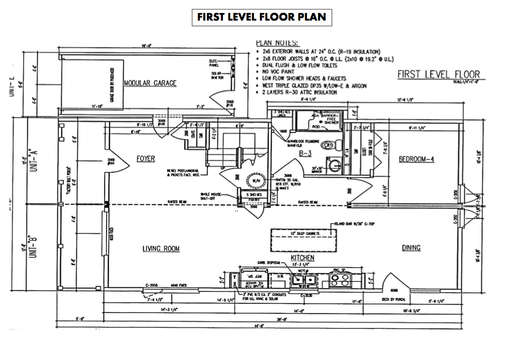 Floor plans Net Zero Energy Home