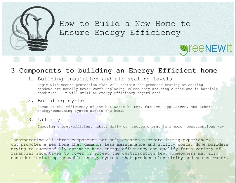 build a new energy efficient home