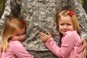 military family save energy